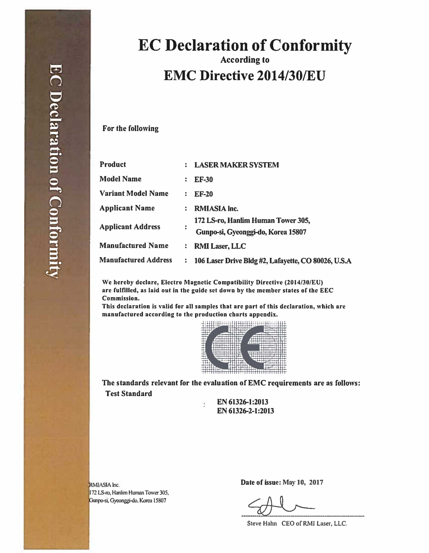 Rmi Laser Marking Direct Part Marking Certifications