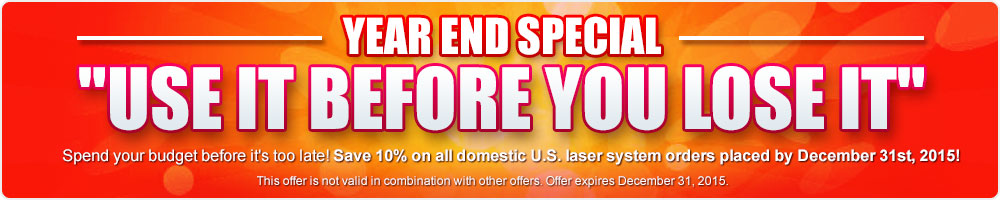Year End Special - Use it before you loose it!